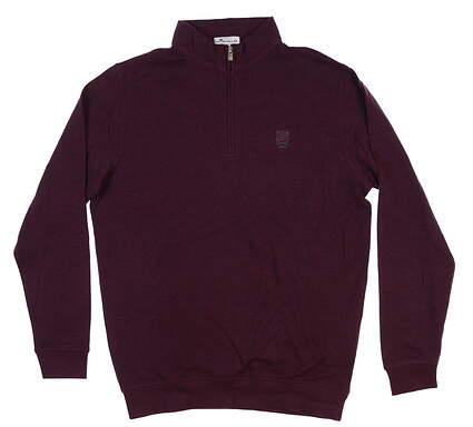 New W/ Logo Mens Peter Millar Crown Comfort 1/4 Zip Pullover Medium M Winterberry MF18K40 MSRP $170