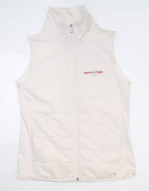 New W/ Logo Womens Under Armour Zone Full Zip Vest Small S White UW1716 MSRP $85
