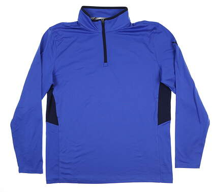 New Mens Puma Rotation 1/4 Zip Medium M Dazzling Blue 577900 10 MSRP $65