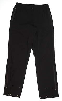 New Womens Puma Storm Rain Pants Small S Black 572294 MSRP $150