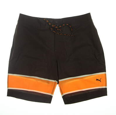 New Mens Puma Hang Ten Boardshorts 32 Chocolate Brown 577909 01 MSRP $75