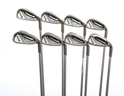 Ping 2014 Karsten Iron Set 5-PW GW SW Ping KS 401 Graphite Senior Right Handed Black Dot 37.75in