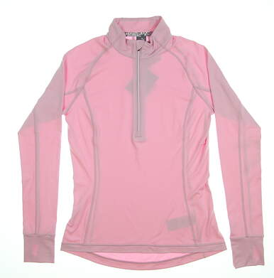 New Womens Puma Proven 1/4 Zip Small S Pale Pink 577943 06 MSRP $65