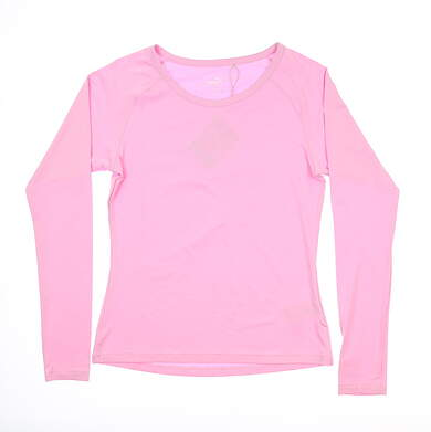 New Womens Puma Long Sleeve Sun Crew Small S Pale Pink 577901 03 MSRP $60