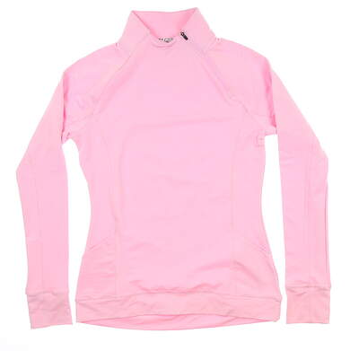 New Womens Puma Brisk 1/4 Zip Pullover Small S Pale Pink 577936 04 MSRP $70