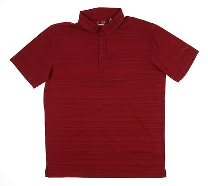 New Mens Puma Breezer Pocket Polo Medium M Rhubarb 595116 04 MSRP $70