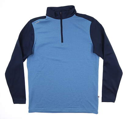 New Mens Ping Phaser 1/4 Zip Pullover Large L Vista Blue S03380 MSRP $89