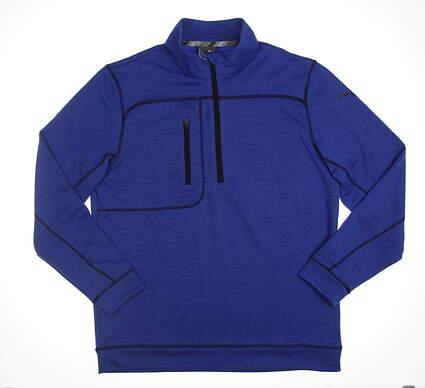 New Mens Puma Go Low 1/4 Zip Pullover Medium M Dazzling Blue 577899 07 MSRP $75