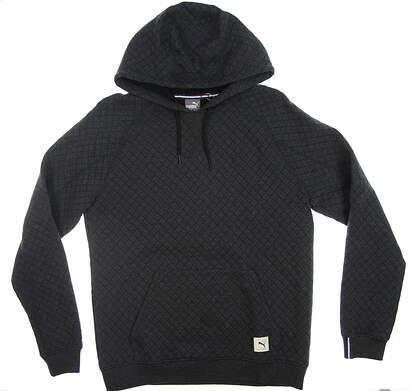 New Mens Puma Pullover Hoodie Medium M PUma Black Heather 595121 01 MSRP $85