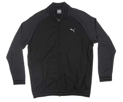 New Mens Puma Bomber Golf Jacket Medium M Black 577895 01 MSRP $160