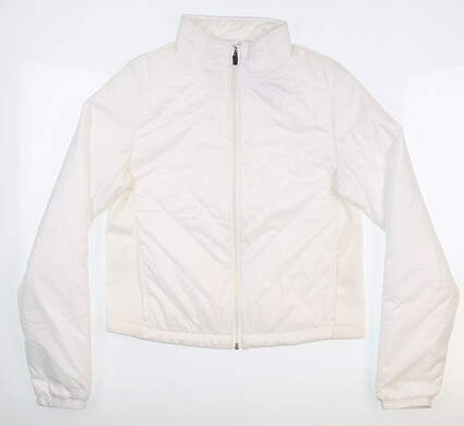 New Womens Puma Quilted Primaloft Golf Jacket Small S White 595168 03 MSRP $80