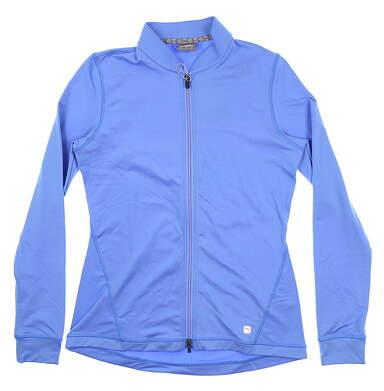 New Womens Puma Full Zip Knit Golf Jacket Small S Blue Glimmer 595447 04 MSRP $70