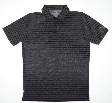 New Mens Puma Rotation Stripe Golf Polo Medium M Peacoat 577974 03 MSRP $60