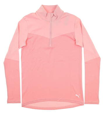 New Womens Puma 1/4 Zip Pullover Small S Pink 577939 MSRP $75
