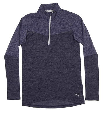 New Womens Puma 1/4 Zip Golf Pullover Small S Navy Blue 577939 04 MSRP $75