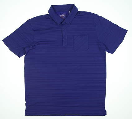New Mens Puma Breezer Golf Polo Medium M Dazzling Blue 595116 03 MSRP $70