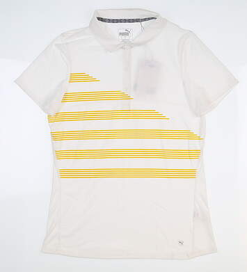 New Womens Puma Golf Polo Small S White 595480 02 MSRP $60