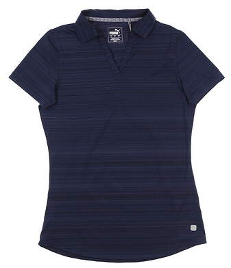 New Womens Puma Costal Golf Polo Small S Peacoat 595136 06 MSRP $55