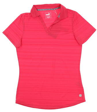 New Womens Puma Coastal Golf Polo Small S Azalea 595136 02 MSRP $55