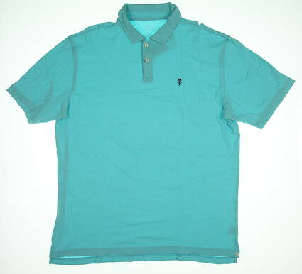 New W/ Logo Mens Peter Millar Golf Polo X-Large XL Blue MS17K68 MSRP $78