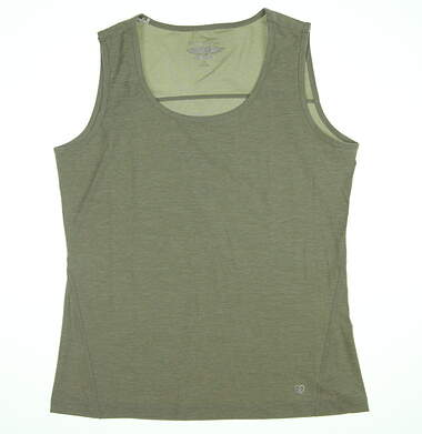 New Womens Straight Down Revel Tank Top Medium M Sage W14242 MSRP $56