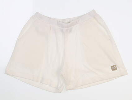 New Womens Straight Down Misty Lounge Shorts Small S White W40110 MSRP $68