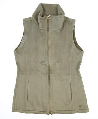 New Womens Straight Down Vest Small S Sage W10146 MSRP $104