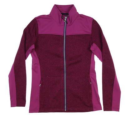 New Womens Straight Down Alexa Golf Jacket Small S Plum W60286 MSRP $98