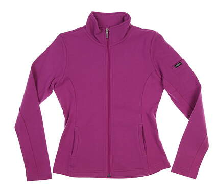 New Womens Straight Down Swing Golf Jacket Small S Plum W30118 MSRP $94