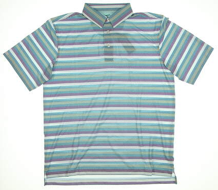 New Mens Straight Down Reign Golf Polo Large L Multi 14717 MSRP $84