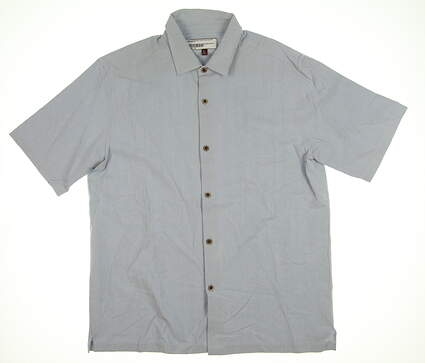 New Mens Straight Down Button Down Polo Large L Blue MSRP $50