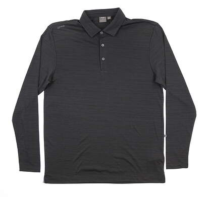 New Mens Ping Corey Long Sleeve Polo Medium M Asphalt S03381 MSRP $59