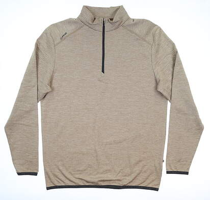 New Mens Ping Elden 1/4 Zip Pullover Large L Brown S03364 MSRP $89