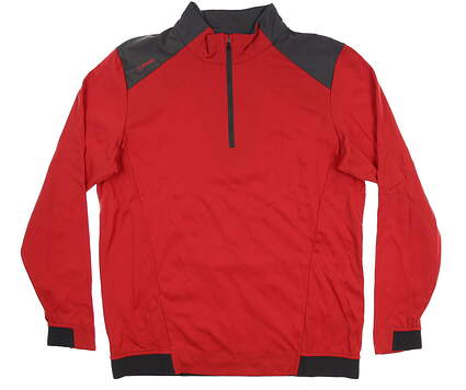 New Mens Ping Vermillion 1/4 Zip Pullover Large L Iron Red S03348 MSRP $129
