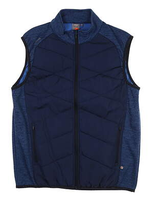New Mens Ping Breaker Vest Large L Oxford Blue S03379 MSRP $169