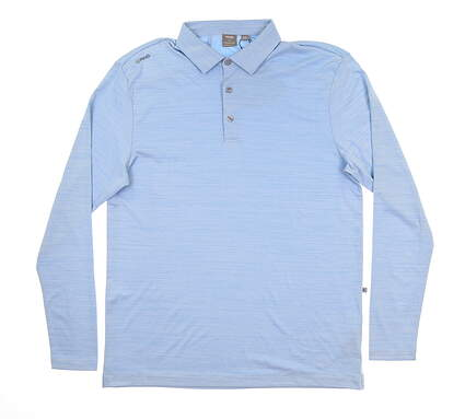 New Mens Ping Corey Long Sleeve Polo Medium M Vista Blue S03381 MSRP $59