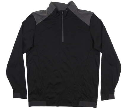 New Mens Ping Vermillion 1/4 Zip Pullover Large L Black/ Asphalt S03348 MSRP $129