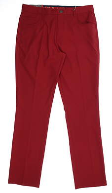 New Mens Puma 5 Pocket Pants 32 x32 Rhubarb 577975 12 MSRP $85