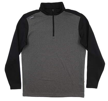 New Mens Ping Phaser 1/4 Zip Pullover Large L Asphalt/ Black S03380 MSRP $89