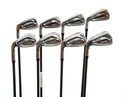 Cobra KING F9 Speedback Iron Set 5-PW GW SW Fujikura ATMOS 6 Black Graphite Stiff Left Handed 38.25in