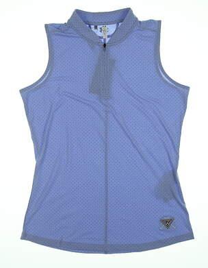 New W/ Logo Womens Under Armour Sleeveless Golf Polo Medium M Blue UW1441 MSRP $78