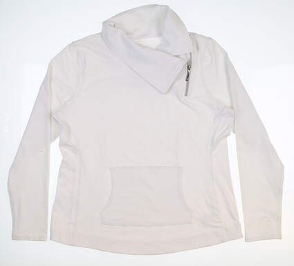 New Womens Jo Fit Jumper Pullover Large L White MSRP $97