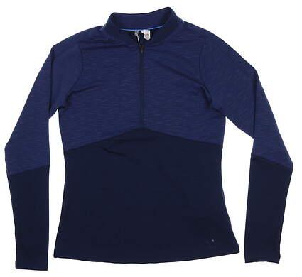 New Womens Under Armour 1/4 Zip Pullover Medium M Navy Blue UW1443MSRP $85