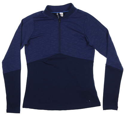 New Womens Under Armour 1/4 Zip Pullover Small S Navy Blue UW1443 MSRP $85