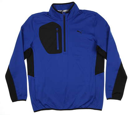 New Mens Puma Tech 1/4 Zip Golf Pullover Medium M Surf the Web 577897 MSRP $90