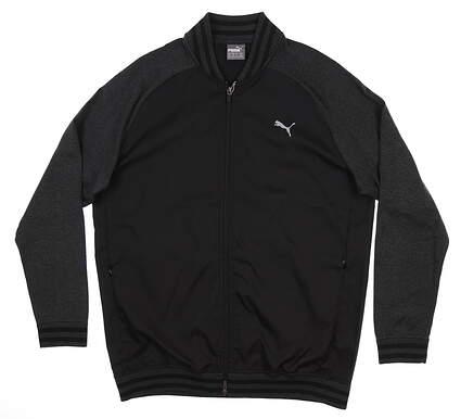 New Mens Puma Bomber Golf Jacket Medium M Black 577895 MSRP $160