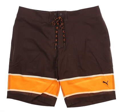 New Mens Puma Hanf Ten Board Shorts 32 Chocolate Brown 577909 MSRP $75
