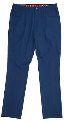 New Mens Puma Jackpot 5 Pocket Golf Pants 32x32 Gibraltar Sea 577975 MSRP $85