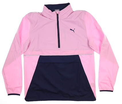 New Mens Puma 1/2 Zip Retro Jacket Medium M Pale Pink 577896 MSRP $90