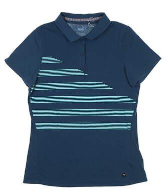 New Womens Puma Golf Polo Small S Gibraltar Sea 595480 MSRP $60